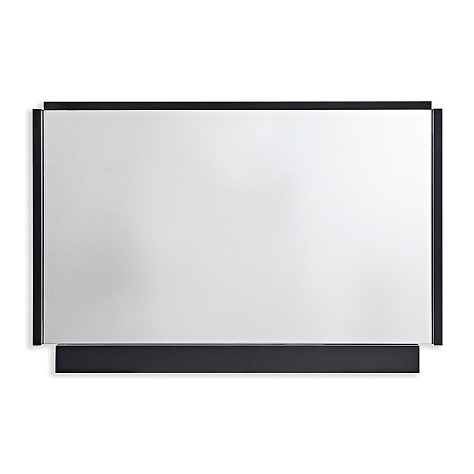 Alternate image 1 for Martha Stewart Bento 24-Inch x 36-Inch Rectangle Accent Mirror in Black