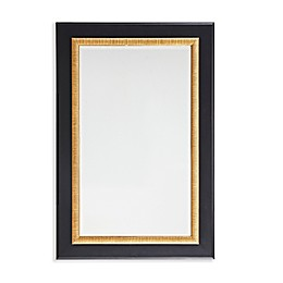 Martha Stewart Emmerson 24-Inch x 36-Inch Rectangle Accent Mirror in Black/Gold