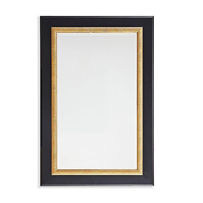 Alternate image 1 for Martha Stewart Emmerson 24-Inch x 36-Inch Rectangle Accent Mirror in Black/Gold