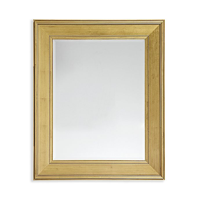 Alternate image 1 for Martha Stewart Westchester 28.5-Inch x 34.5-Inch Rectangle Accent Mirror in Antique Gold