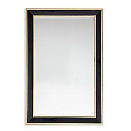 Martha Stewart Hudson 24-Inch x 36-Inch Rectangle Accent Mirror in Black/Gold
