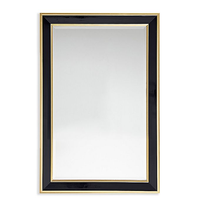 Alternate image 1 for Martha Stewart Hudson 24-Inch x 36-Inch Rectangle Accent Mirror in Black/Gold