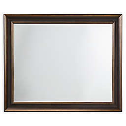 Martha Stewart Jefferson 34-Inch x 28-Inch Rectangle Accent Mirror in Black/Gold