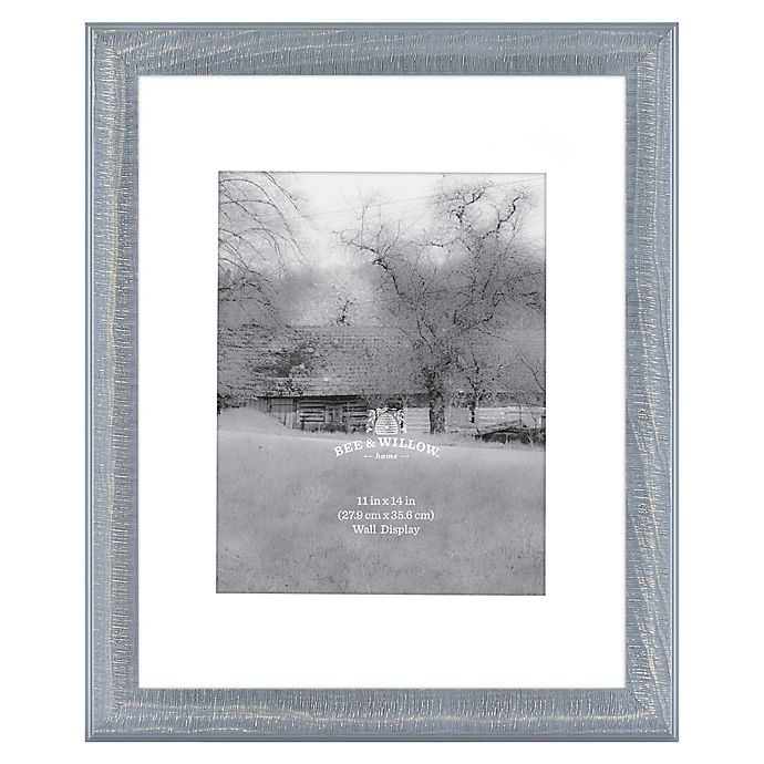 Alternate image 1 for Bee & Willow™ Home 11-Inch x 14-Inch Matted Wood Picture Frame in Blue