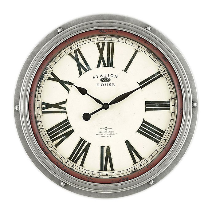 Alternate image 1 for Bee & Willow 18-Inch Antique Roman Clock