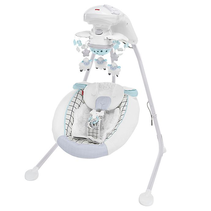 Alternate image 1 for Fisher-Price® Sweet Little Lamb Cradle 'n Swing