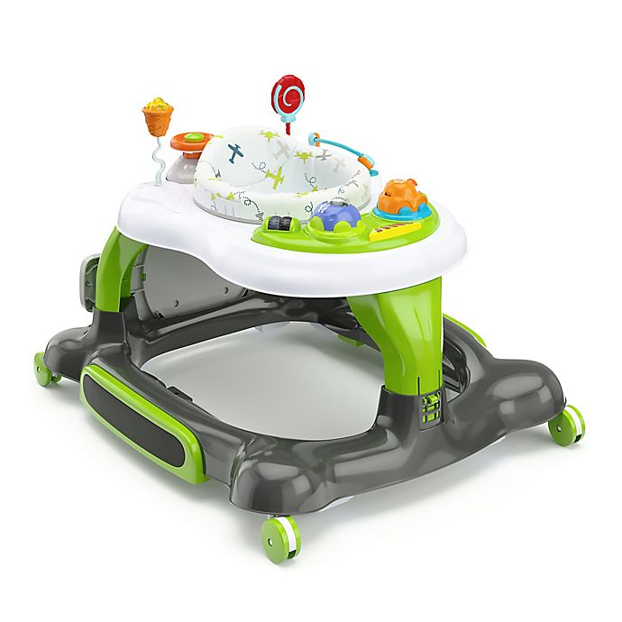 Alternate image 1 for Storkcraft 3-in-1 Activity Walker with Jumping Board and Feeding Tray (Green)