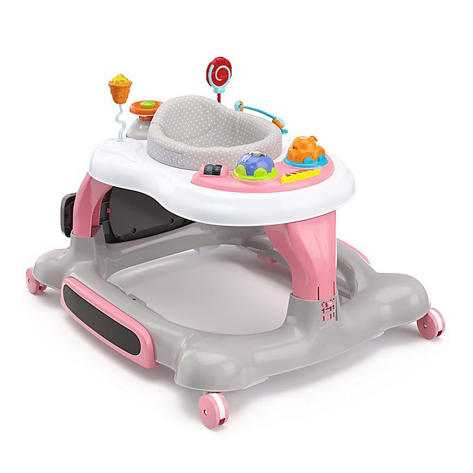 Alternate image 1 for Storkcraft 3-in-1 Activity Walker with Jumping Board and Feeding Tray (Pink)