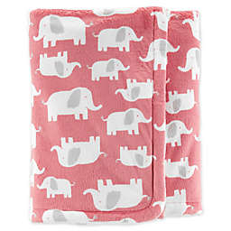 carter's® Elephant Velboa Plush Blanket in Pink