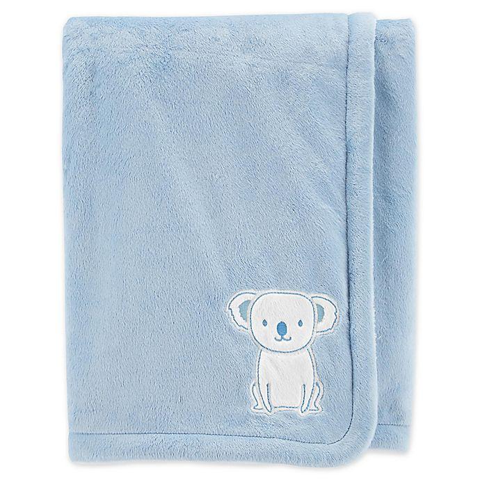 Alternate image 1 for carter's® Embroidered Velboa Plush Blanket