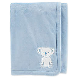 carter's® Embroidered Koala Velboa Plush Blanket in Blue