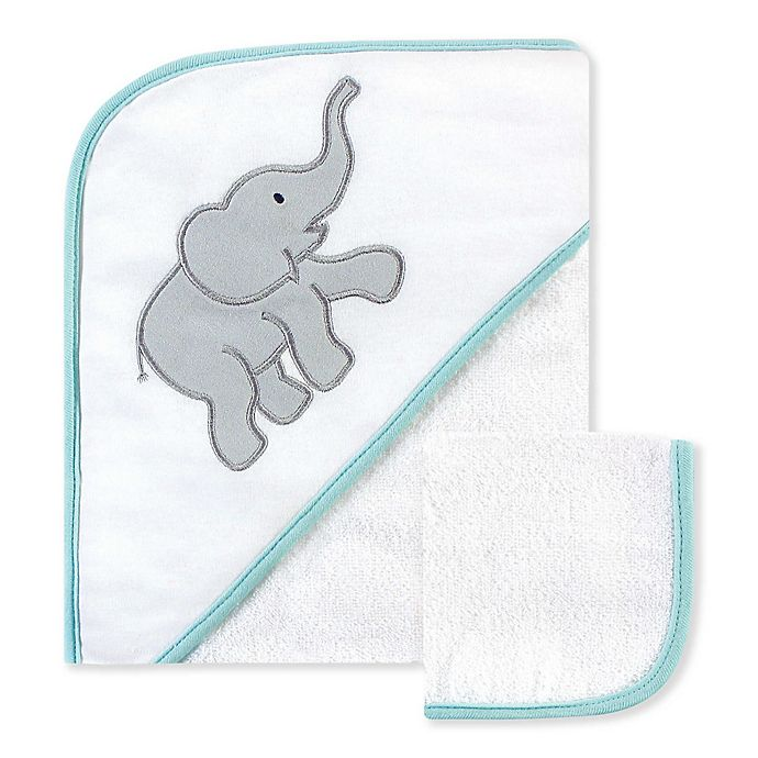 Alternate image 1 for Luvable Friends® 2-Piece Hooded Towel and Washcloth Set