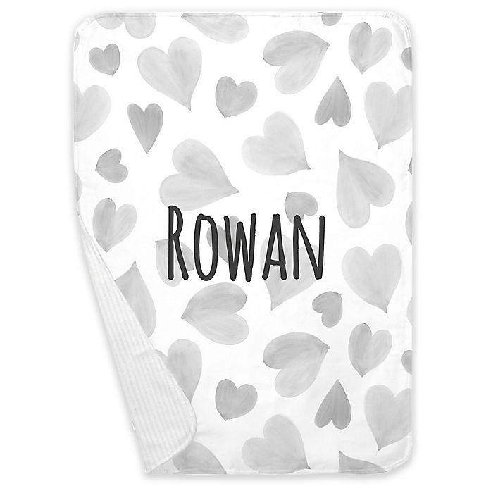 Alternate image 1 for Carousel Designs® Watercolor Hearts Receiving Blanket