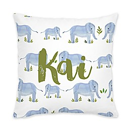 Carousel Designs® Painted Elephants Square Throw Pillow