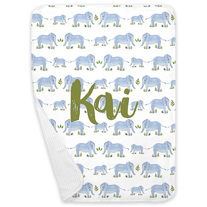 Alternate image 1 for Carousel Designs® Painted Elephants Receiving Blanket