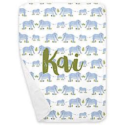 Carousel Designs® Painted Elephants Receiving Blanket in Blue