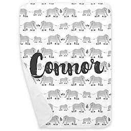 Carousel Designs® Painted Elephants Receiving Blanket in Grey
