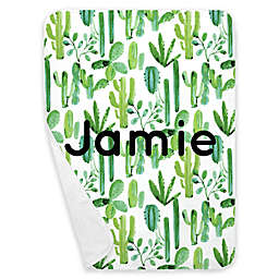 Carousel Designs® Painted Cactus Receiving Blanket in Green
