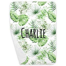 Carousel Designs® Painted Tropical Receiving Blanket in Green