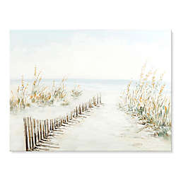 Wadou Walk to the Beach 35-Inch x 47-Inch Wrapped Canvas Wall Art