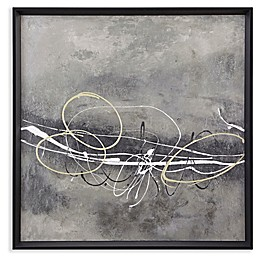 Martha Stewart Neutral In Motion Framed 29-Inch Square Canvas Wall Art