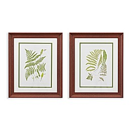 Martha Stewart Royal Ferns Double Mat Framed 19-Inch x 23-Inch Wall Art (Set of 2)