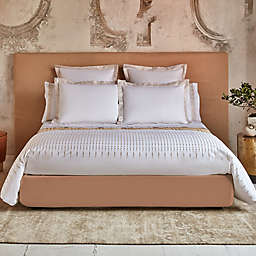 Frette At Home Puntini Queen Duvet Cover in White/Beige