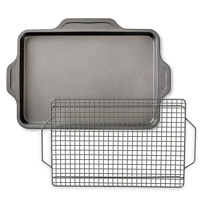 Alternate image 1 for All-Clad Pro-Release Bakeware Nonstick Half Sheet Pan with Rack