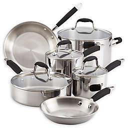 Anolon® Tri-Ply Stainless Steel 10-Piece Cookware Set