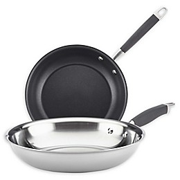 Anolon® Tri-Ply Onyx French Skillet Twin Pack