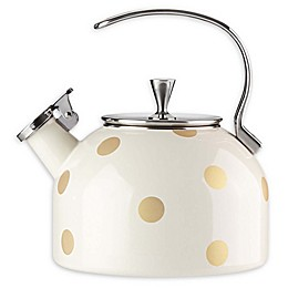 kate spade new york Deco Dot Gold 2.5 qt. Tea Kettle