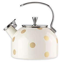 kate spade new york Deco Dot Gold 2.5 qt. Tea Kettle