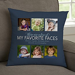 Family Memories Personalized Photo Throw Pillow