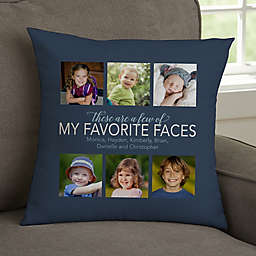 My Favorite Things Personalized Photo Throw Pillow