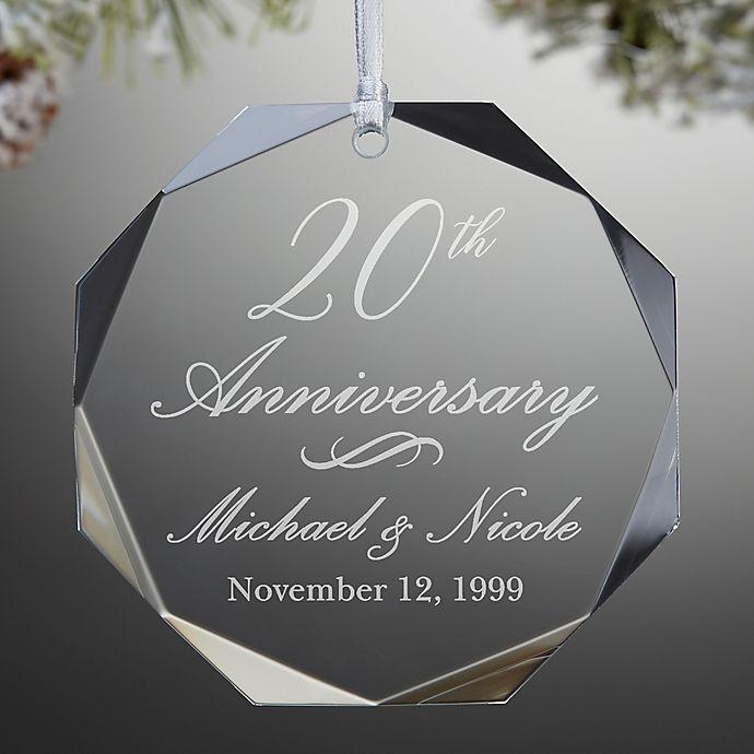 Alternate image 1 for Anniversary Premium Engraved Ornament