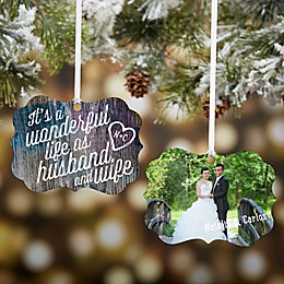 Personalized Wonderful Life As Husband & Wife Photo Ornament