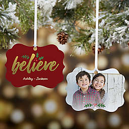 Personalized Cozy Christmas 2-Sided Photo Ornament