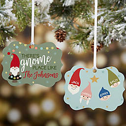 Gnome Family Personalized 2-Sided Ornament