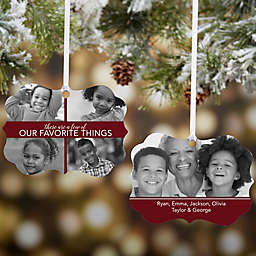 My Favorite Things 5 Photo Personalized Ornament