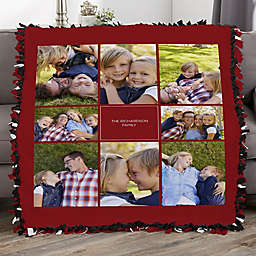Photomontage Personalized 50-Inch x 60-Inch Photo Tie Blanket