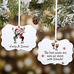 Best Friend Wine Lover philoSophie's® Personalized Ornament