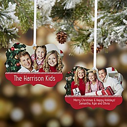 Personalized Holiday Memories 2-Sided Photo Ornament