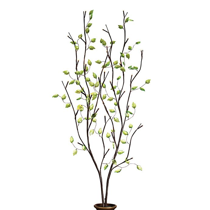 39-Inch Battery Operated Green Leaf LED Lighted Branches ...