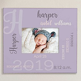 All About Baby Personalized 5-Inch x 7-Inch Wall Frame