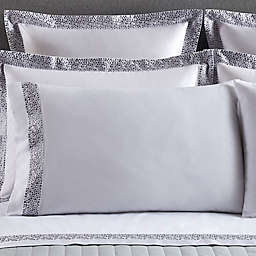 Frette At Home Puntini Standard Pillow Sham in White/Grey