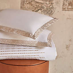 Frette At Home Puntini King Pillow Sham in White/Beige