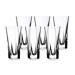 Lorren Home Trends Fusion Crystal Highball Glass (Set of 6)