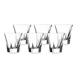 Lorren Home Trends Fusion Crystal Double Old Fashioned Glass (Set of 6)