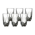 Lorren Home Trends Trix Crystal Highball Glass (Set of 6)