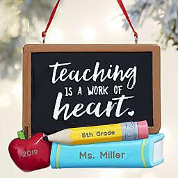 Teacher's Chalkboard© Personalized Ornament